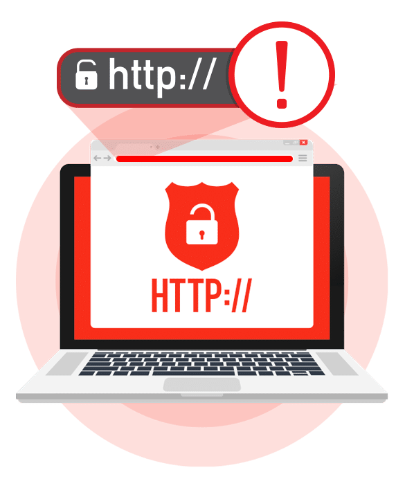 Illustration of HTTP error message on the web browser