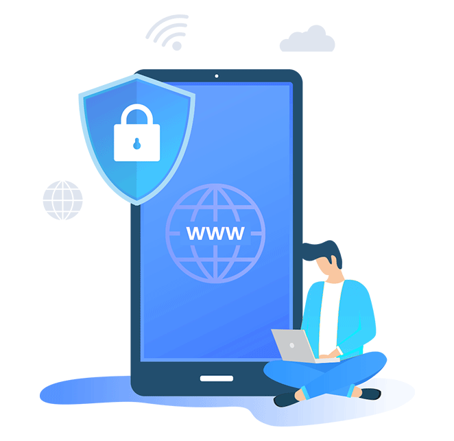Illustration of Extilums domain security service
