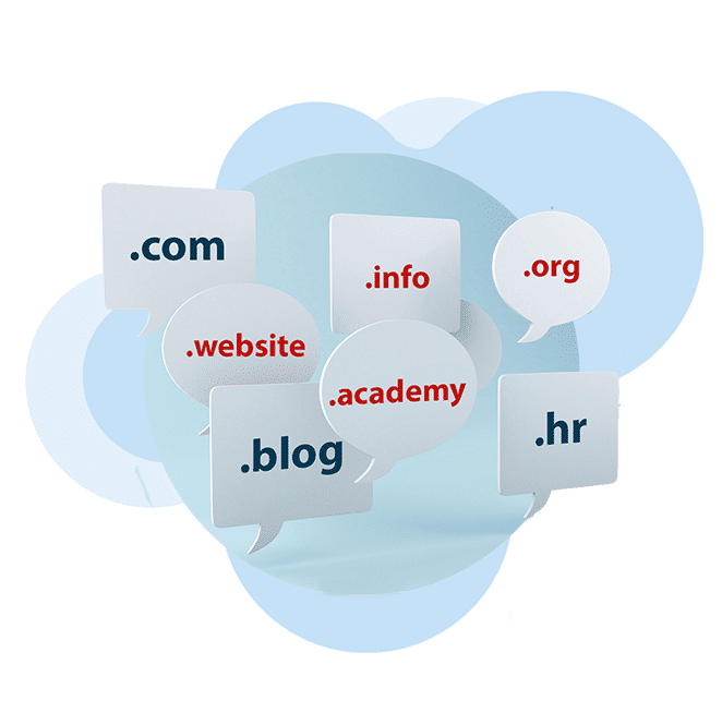 Illustration of all top domain extensions