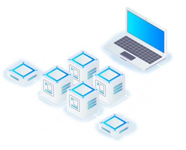 Illustration of Extilum hosting services